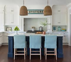 turquoise kitchen island navy kitchen island with turquoise stools cottage kitchen