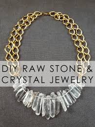 making stone necklace images Bromeliad diy raw stone and crystal jewelry fashion and home jpg