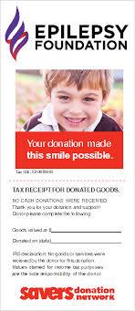 Clothing Donation Tax Deduction Worksheet Tax Deductible Donations Epilepsy Foundation