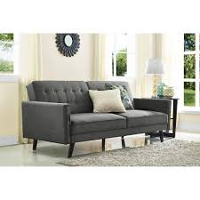 better homes and gardens rowan linen futon grey walmart com