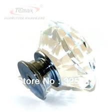 kitchen cabinet door knobs and pulls dressers 30mm zinc alloy clear crystal sparkle glass kitchen