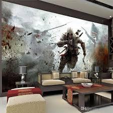 living room mural game view wall mural assassins creed photo wallpaper hd wall