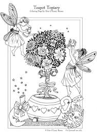 coloring page teapot topiary img 5997