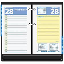 Desk Daily Calendar At A Glance Desk Calendar Base Black 3 1 2