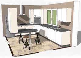 plan de cuisine en l cuisine en u avec table get green design de maison