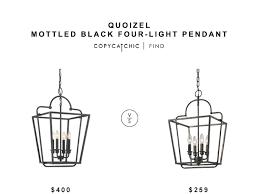 Quoizel Pendant Lights Quoizel Mottled Black Pendant Light Copycatchic