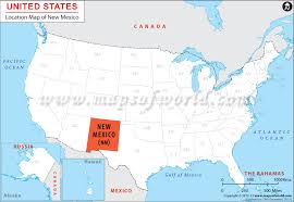map of mexico with states where is new mexico location of new mexico