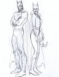 drawn batgirl pencil and in color drawn batgirl