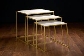 marble top nesting tables soni marble nesting tables mecox gardens