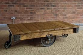 giant reclaimed mill cart coffee table by indigo furniture