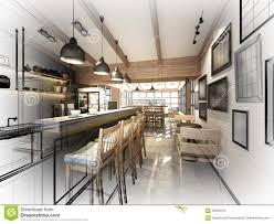 Coffee Shop Floor Plans Free Sketch Design Of Coffee Shop Stock Illustration Image 58050044