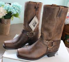 womens boots frye frye harness 12r leather boots brown size 10 womens