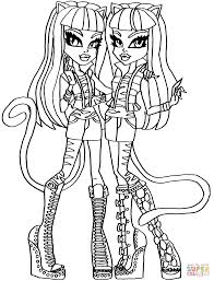 monster high coloring pages free printable monster high coloring