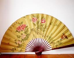 decorative fan vintage silk fans asian silk wall fan vintage