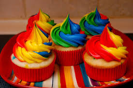 cake color colorful cupcake image 494591 on favim com