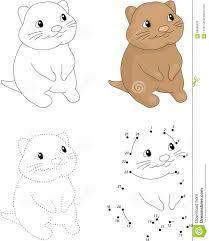 cartoon quokka dot to dot game for kids stock vector image