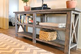Diy Pallet Sofa Table Diy Pallet Console Table Plans Diy Reclaimed Wood Console Table