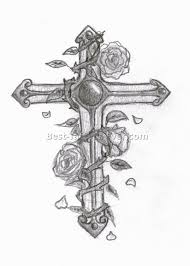 cross with rose tattoo 1 best tattoos ever