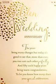 50th wedding anniversary greetings large sized gold your golden wedding anniversary 50th