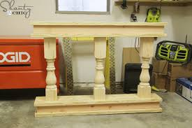 Unfinished Console Table Diy Console Table Shanty 2 Chic