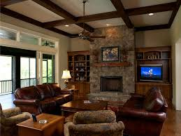 Family Room Decorating Ideas With Leather Furniture Home Design - Family room leather furniture