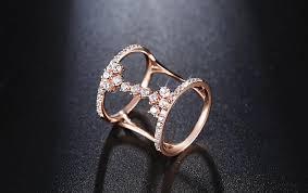unique fashion rings images Juliet 39 s vow fashion rose gold silver color unique geometric design r jpg