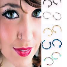 colored nose rings images 10 pcs stainless steel fake nose rings hoop 5 colors wicked body jpg