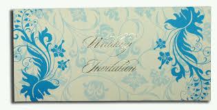 Punjabi Wedding Invitation Cards Abc 448 Flowing Bliss Cyan Blue And White Wedding Invitation Abc