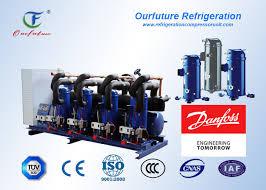 meat store scroll type parallel compressor 15 90 hp danfoss hermetic
