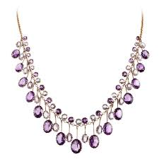 amethyst jewelry necklace images Victorian amethyst aquamarine gold collar necklace at 1stdibs jpeg