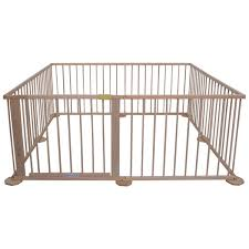 baby playpen 8 panel wooden frame play yard foldable room divider
