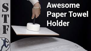 diy cement paper towel holder youtube