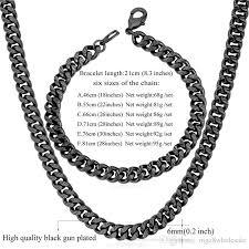 diy punk necklace images 2018 u7 statement link chain necklace bracelet set 18k real gold jpg