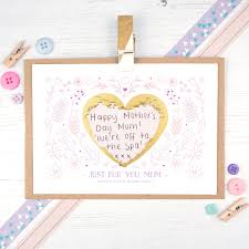 personalised mother u0027s day card mother u0027s day