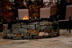 Stone Firepit by Artistic Landscapes Com Blog Natural Stone Firepit In Lynnfield Ma