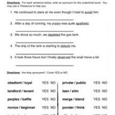 synonym worksheets have fun teaching