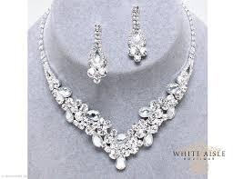 rhinestone necklace set images Rhinestone necklace set bridal statement necklace wedding jpg