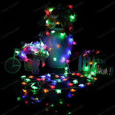 led christmas string lights outdoor five pointed star fairy lights led christmas string lights outdoor