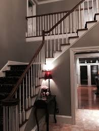 foyer with sherwin williams dorian gray we bought this color