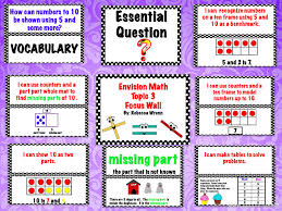 Envision Math Worksheets Learning With Firsties First Grade Envision Math Topic 3 Focus Wall