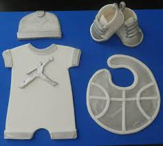 baby boy air jordan fondant cake topper this is great for baby