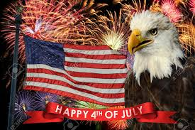 Eagle American Flag 25561430 Fireworks Display During Fourth Of July With American