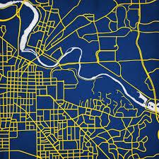 Map Of University Of Michigan University Of Michigan City Prints Map Art Michigan Pinterest