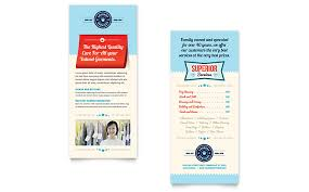 laundry services rack card template word u0026 publisher