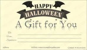 halloween gift certificate template free painter resume samples