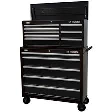 tool chest and cabinet set husky 41 in 13 drawer chest and cabinet set black htc408bdlx12