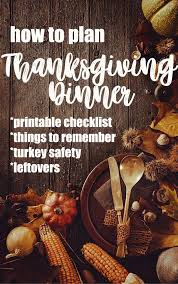 how to plan thanksgiving dinner so your goes smoothly