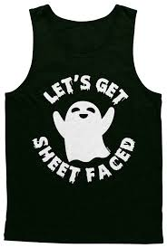 funny halloween t shirts lets get sheet faced halloween ghost pun funny drunk joke beer
