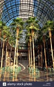palm trees in the winter garden atrium part of the world financial