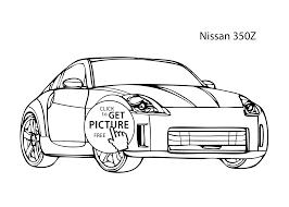 car nissan 350z coloring cool car printable free